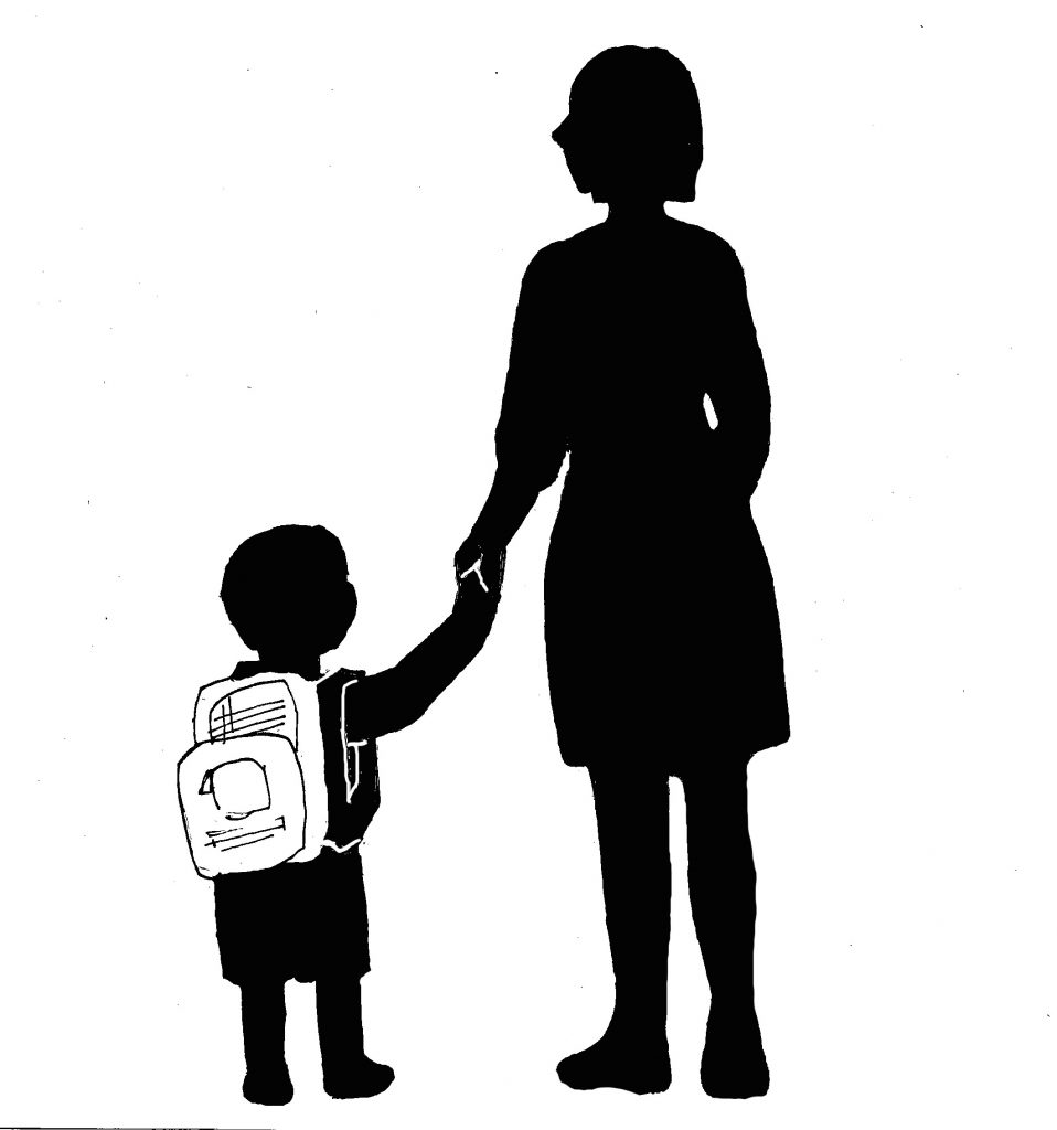 child-mother-silhouette