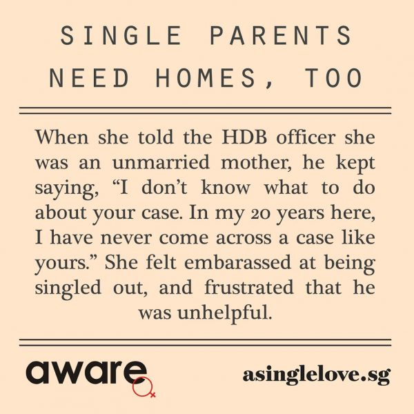 Single parents need homes, too: Anna's story